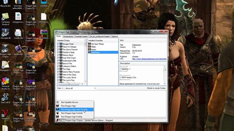 age origins console age origins dao modmanager how to use console