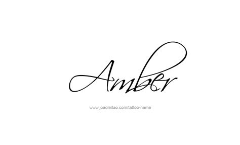 amber tattoo name designs