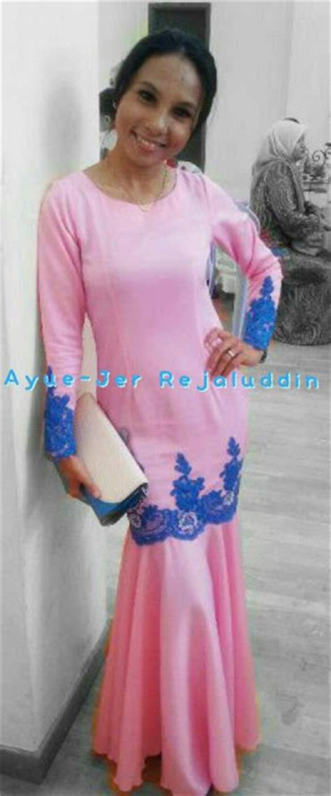Saleee Baju Atasan Monte Emon fesyen kurung peplum lace new style for 2016 2017