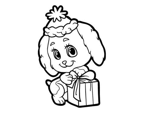 dibujos de navidad para colorear tiernos dibujo de perrito navide 241 o para colorear dibujos net