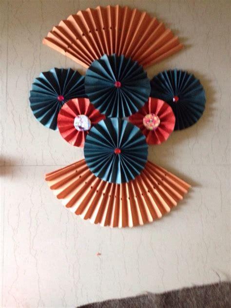 ganpati decoration trial  paper craft papercraft