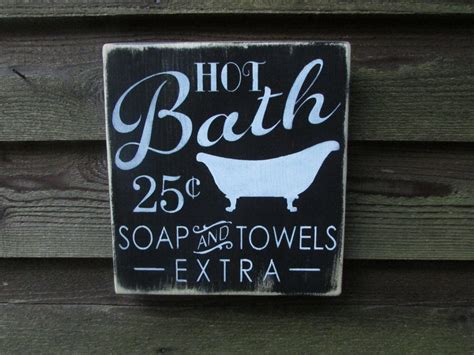 bathroom decor signs bathroom sign bathroom decor primitive country decor