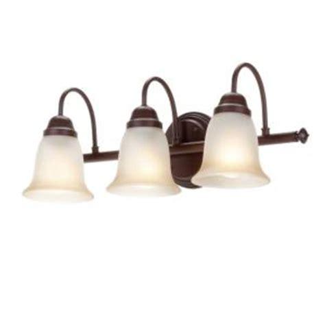 Vanity Light Home Depot by Commercial Electric 3 Light Nutmeg Vanity Sconce Efh1393m