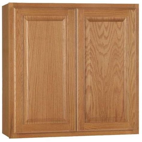 Oak Kitchen Cabinets Home Depot by Hton Bay 30x30x12 In Hton Wall Cabinet In Medium