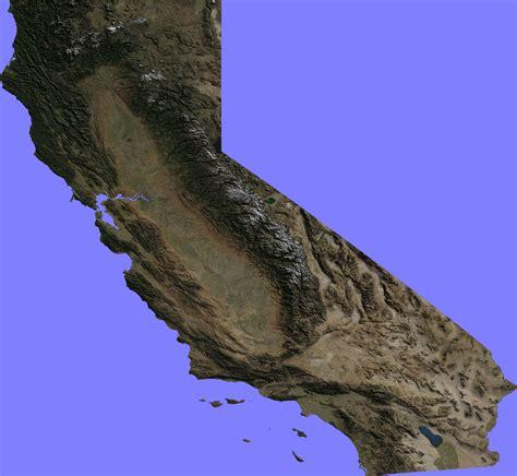 california map earth terrain maps 171 earth library