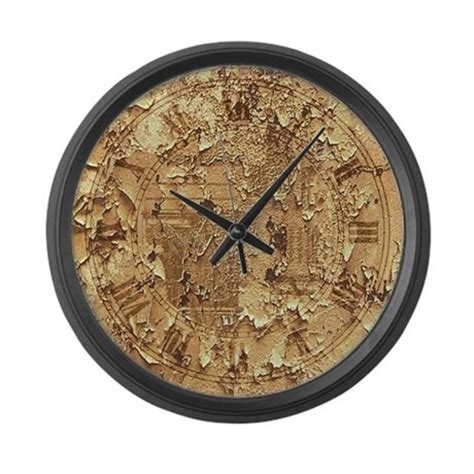 clock distressed large wall clock by plasmax