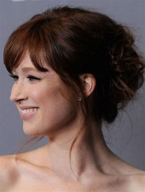 Updo Hairstyles With Bangs by Updo With Bangs Hair
