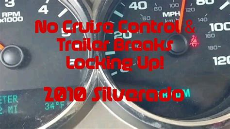bad brake switch cruise controltrailer brakes