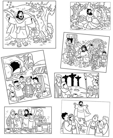 Gamis Santia Bordir Fit L coloring pages the easter story my house