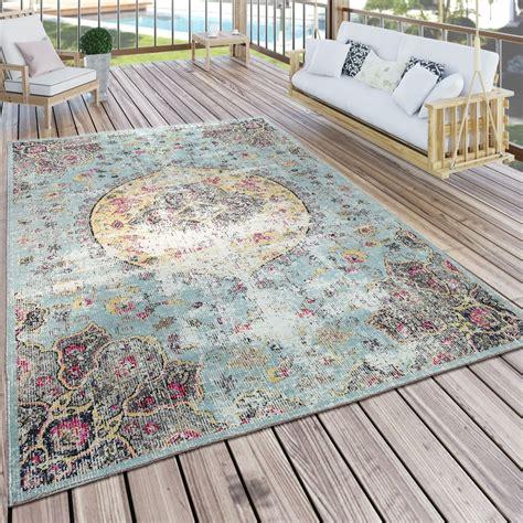 rug teppich indoor outdoor rug pastel turquoise pink yellow