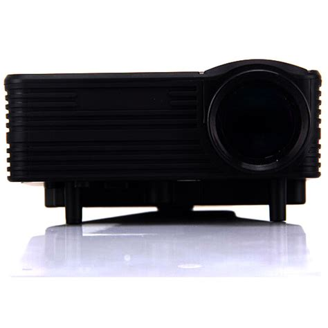 Proyektor Mini H100 proyektor mini led 640 x 480 pixel 80 lumens with tv receiver h100 black jakartanotebook