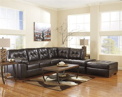ashley furniture alliston sectional alliston durablend chocolate right arm facing sectional