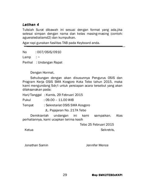 Contoh Surat Rapat Koordinasi Ditunjukan Ke Karyawan by Contoh Surat Rapat Pengurus