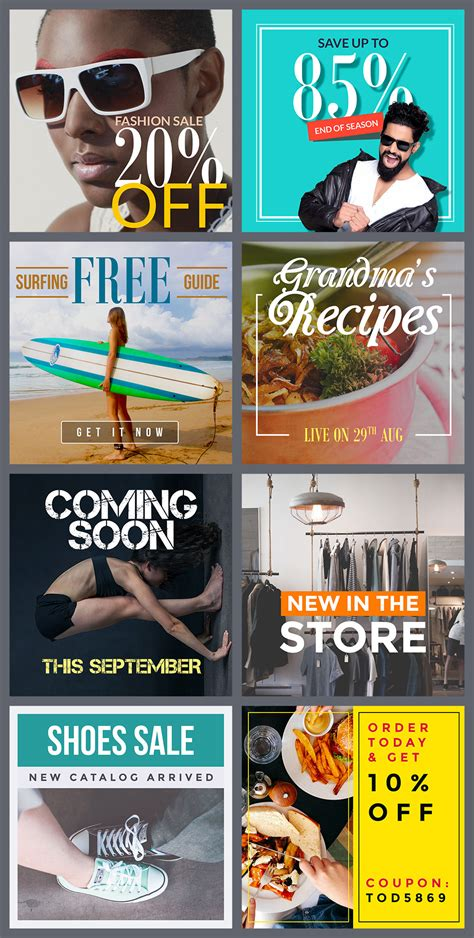 Instagram Promo Banner Psd Templates Graphicsfuel Instagram Ad Template Psd