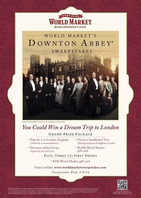 World Market Downton Abbey Sweepstakes - downton abbey virtual tea party just destiny