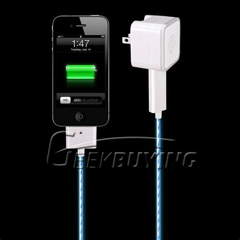 Charge Cable For Iphone Ipod Visible Light El 1 visible smart charger cable for iphone ipod