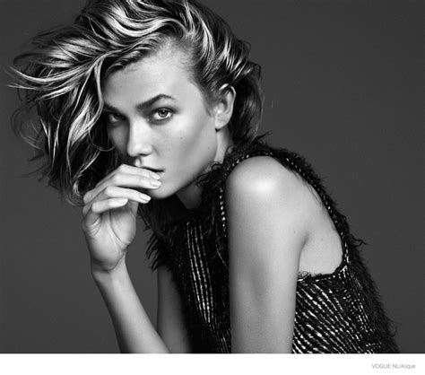 Vogue Hairstyles by Karlie Kloss Models Hairstyles For Cover Shoot Of