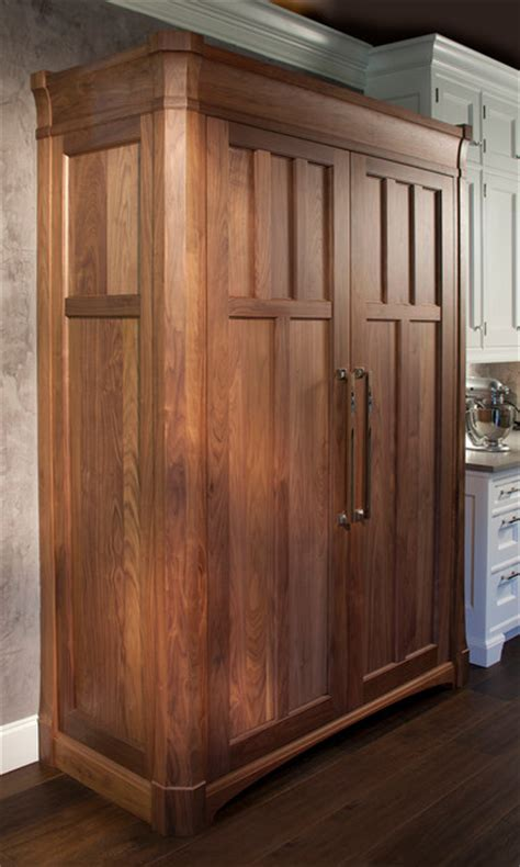armoire refrigerator detail of refrigerator freezer armoire traditional kitchen atlanta by csi