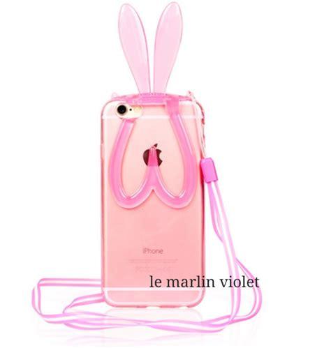 Casing Iphone 5 Bunny iphone translucent jelly rabbit bunny phone free