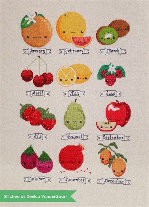 fruit of the month club fruit of the month fruit and cross stitch on