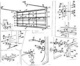 Overhead Door Parts List Replacement Parts Diagram Parts List For Model 234672071 Sears Parts Garage Door Parts