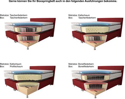 Matratze Wechseln by Aukona International Boxspringbett Ph 246 Nix Taschenfederkern