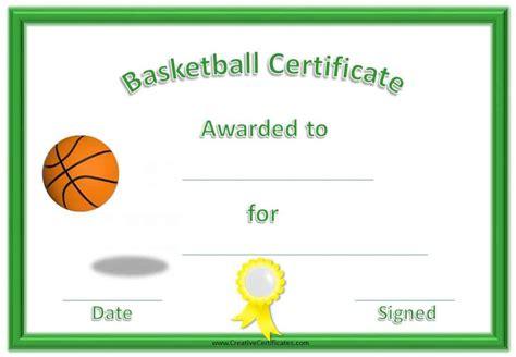 Free Basketball Certificate Templates Basketball Award Templates