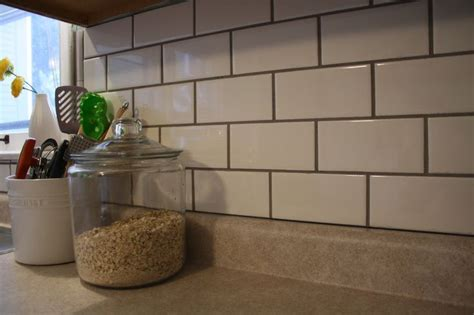grout kitchen backsplash subway tile backsplash black grout sab pinterest