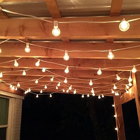 50 foot g40 globe patio string lights with clear bulbs for