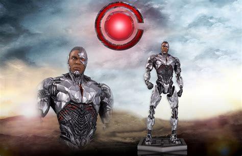 justice league film cyborg justice league movie cyborg statue