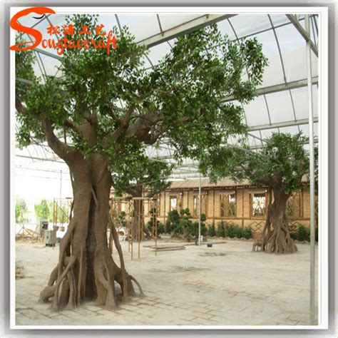 how to make a fake tree 2015 china wholesale outdoor large artificial decorative