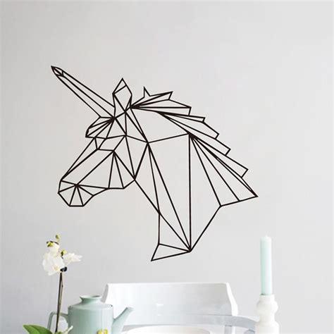 Wall Sticker Geometric Deer removeble geometric animal deer design wall sticker geometry series decor ebay