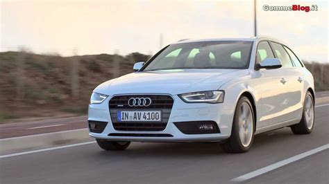 audi a4 avant restyling 2012 road view and exterior