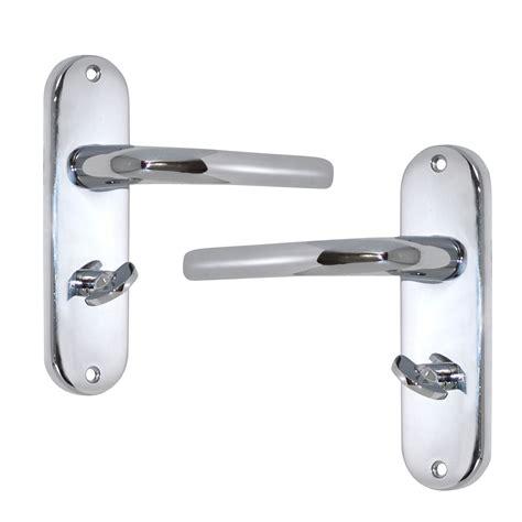b q bathroom door locks polished chrome effect internal straight bathroom door