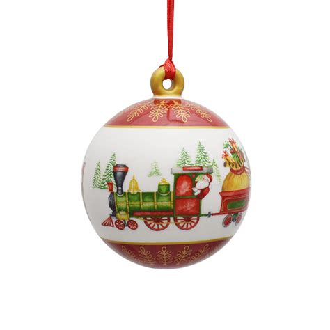 villeroy and boch porcelain ball ornament 2017 silver