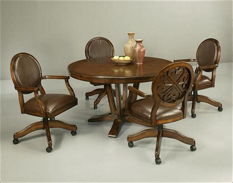rolling dining room chairs rolling dining chairspair of maple caneback rolling dining