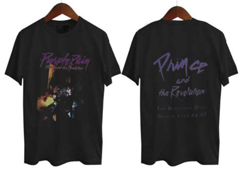 Only 2 Sides Tshirt Size S prince purple t shirt two sides legend sleeve casual printed us plus
