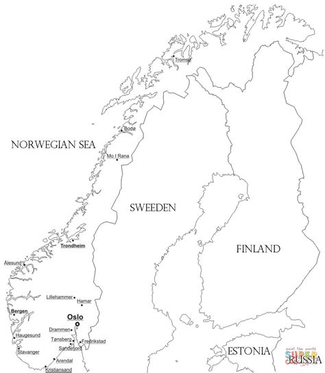 scandinavia map coloring page norway free colouring pages