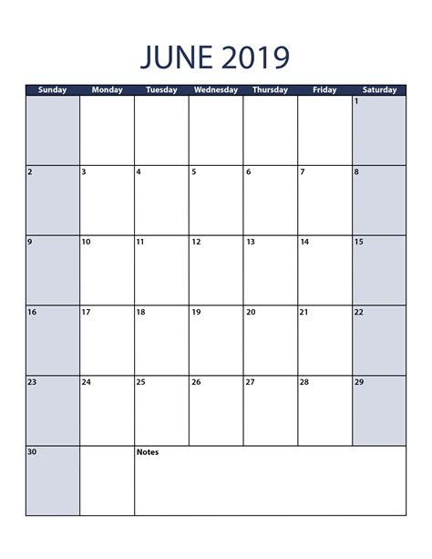 June 2014 Calendar Template by June 2019 Calendar Template