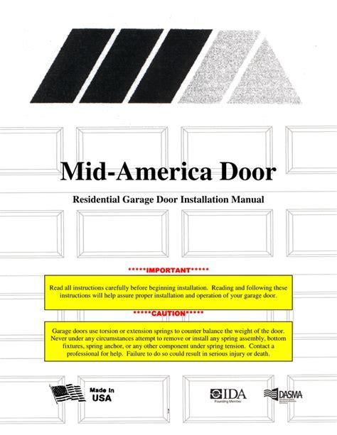 mid america door residential garage door installation