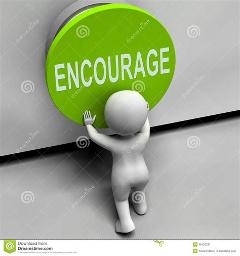 image meaning encourage button means inspire motivate stock illustration