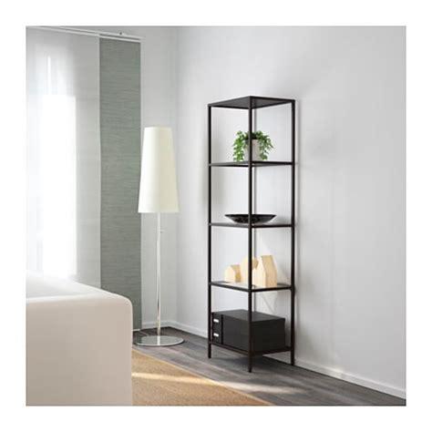 Ikea Toekicks On Uneven Floor by Vittsj 214 Shelving Unit Black Brown Glass 51x175 Cm Ikea