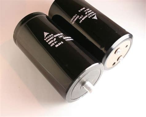 epcos capacitors for audio 1x 5600uf 425v large can electrolytic capacitor dc 5600mfd 5 600 425vdc w stud ebay