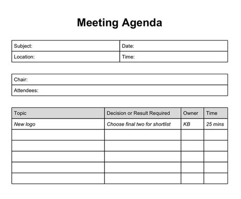 this is by far one of the most effective meeting agenda s