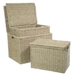 bathroom storage boxes with lids medium seagrass box with lid wicker basket wicker