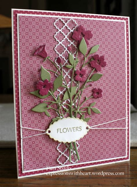 flower dies for card bouquet and fresh foliage outside the box