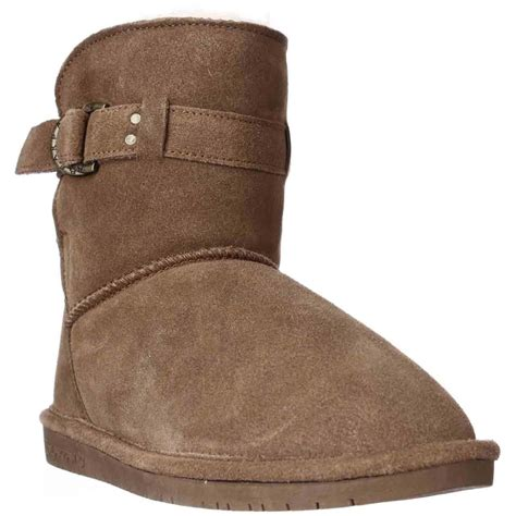 bearpaw tessa snow winter boots in brown lyst