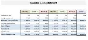 business plan financial statements template financial statement projection templates in excel