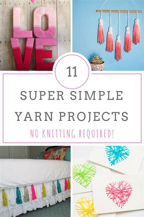 what to make out of yarn without knitting 25 best easy yarn crafts ideas on yarn crafts