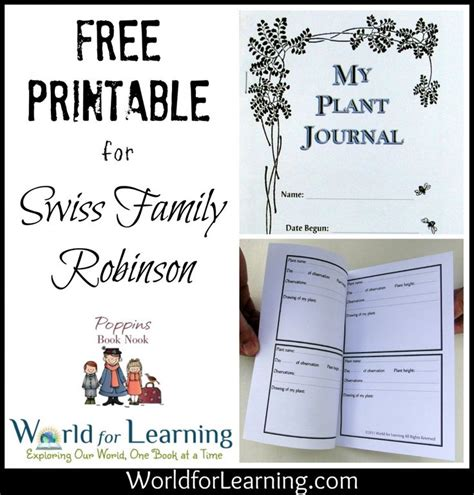 printable learning journal 17 best images about swiss family robinson on pinterest